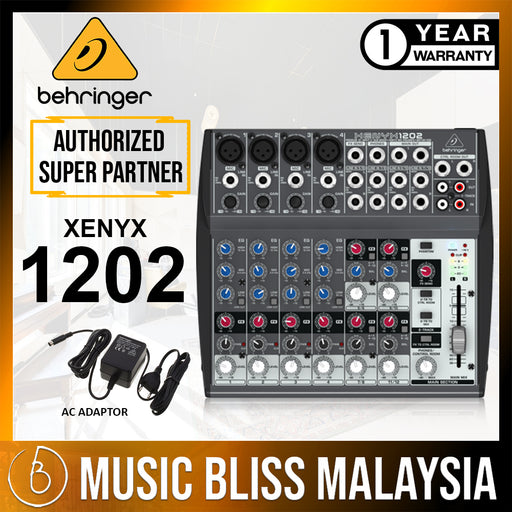 Behringer Xenyx 1202 8-channel Mixer (Xenyx-1202) *Everyday Low Prices Promotion* - Music Bliss Malaysia