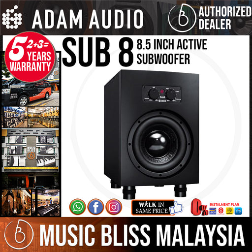 ADAM Audio Sub 8 8.5 Inch Active Subwoofer - Music Bliss Malaysia