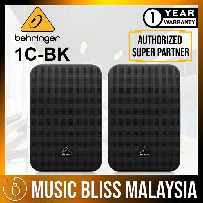 Behringer 1C-BK 100-Watt Monitor Speakers - Pair (1CBK) *Crazy Sales Promotion* - Music Bliss Malaysia