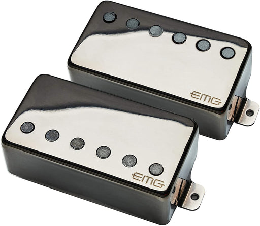 EMG 57/66 Pickup Set - Black Chrome - Music Bliss Malaysia
