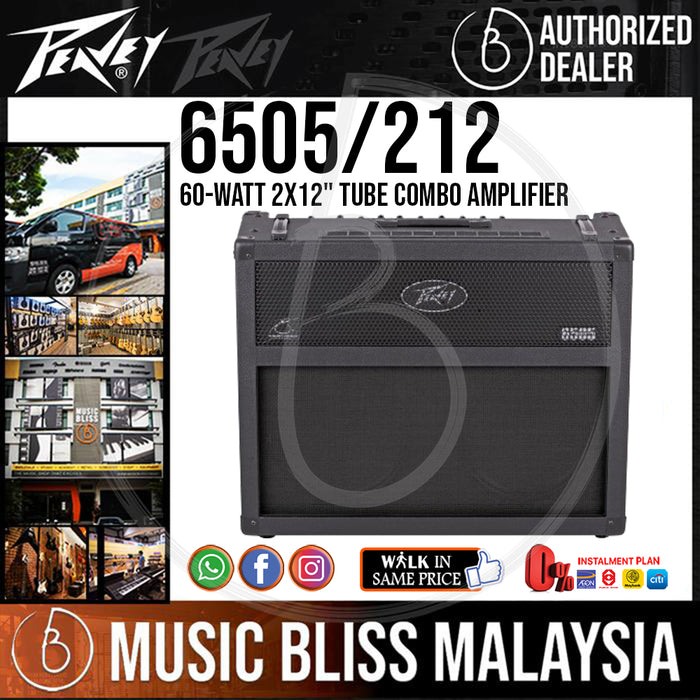 "Peavey 6505 60-watt 2x12"" Tube Combo Amplifier - Music Bliss Malaysia"