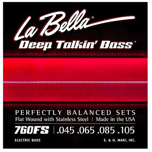 La Bella 760FS Deep Talkin' Bass Flatwound Bass Strings - Standard - Music Bliss Malaysia