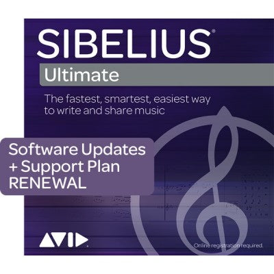 Avid Sibelius Ultimate 3-Year Software Updates + Support Plan RENEWAL - Music Bliss Malaysia