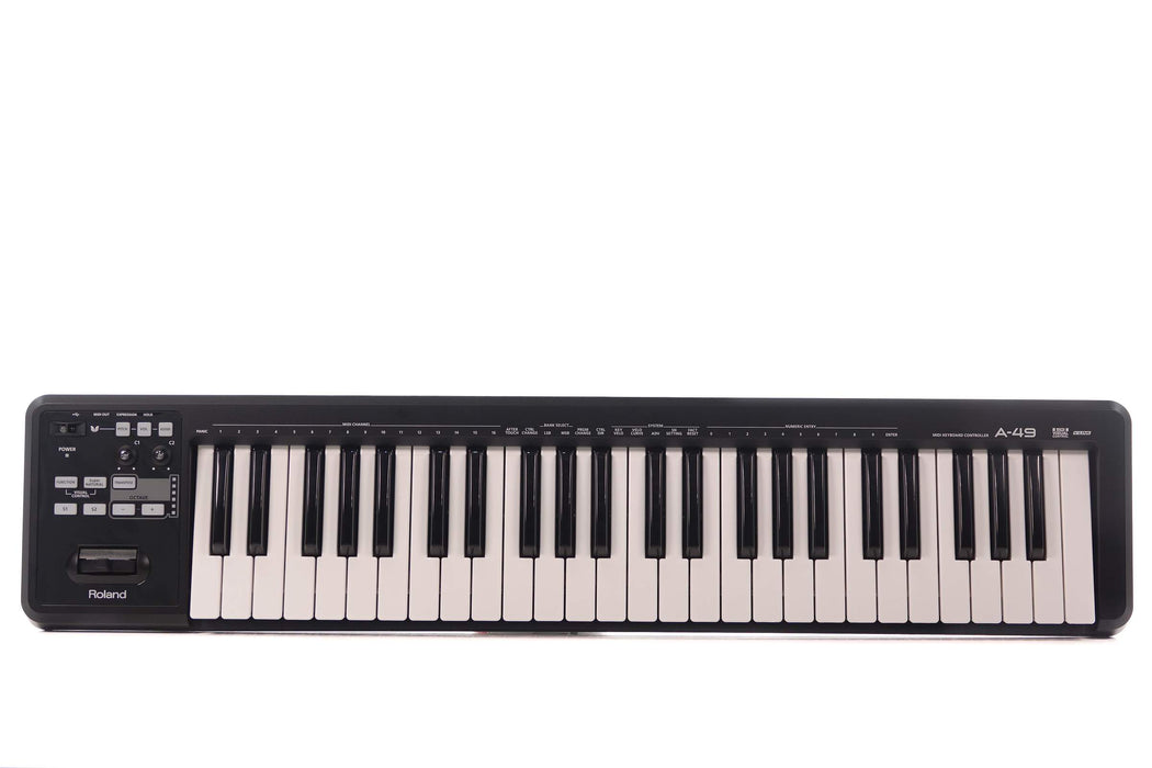 Roland A-49 49-Keys MIDI Keyboard Controller with FREE Shipping - Black (A49 A 49)