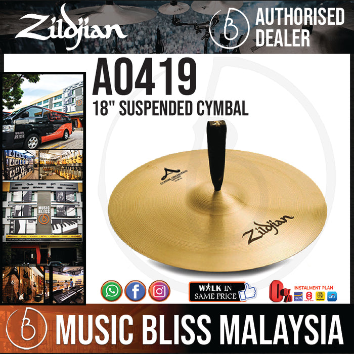 "Zildjian 18"" A Classic Orchestral Selection Suspended Cymbal (A0419) - Music Bliss Malaysia"