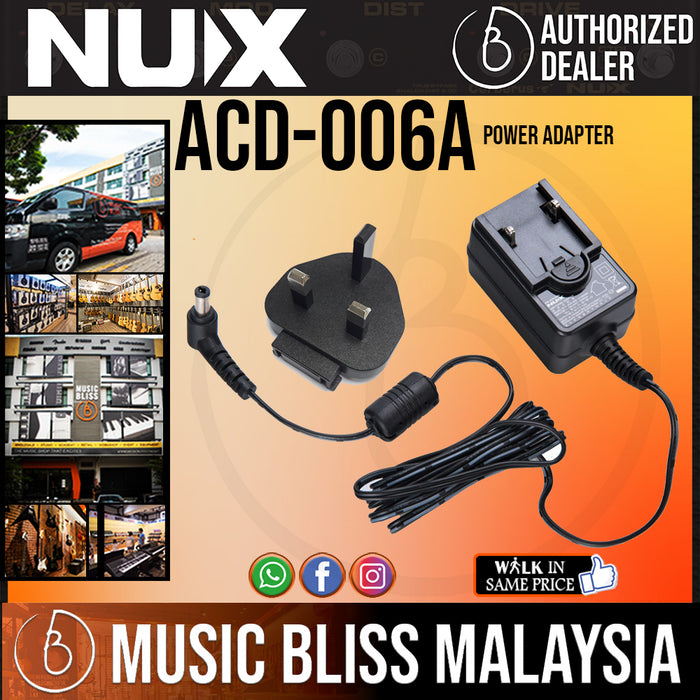 NUX ACD-006A - Power Adapter For Guitar Effect Pedal BOSS Electro-Harmonix TC Electronic Dunlop MXR Zoom (ACD006A) - Music Bliss Malaysia