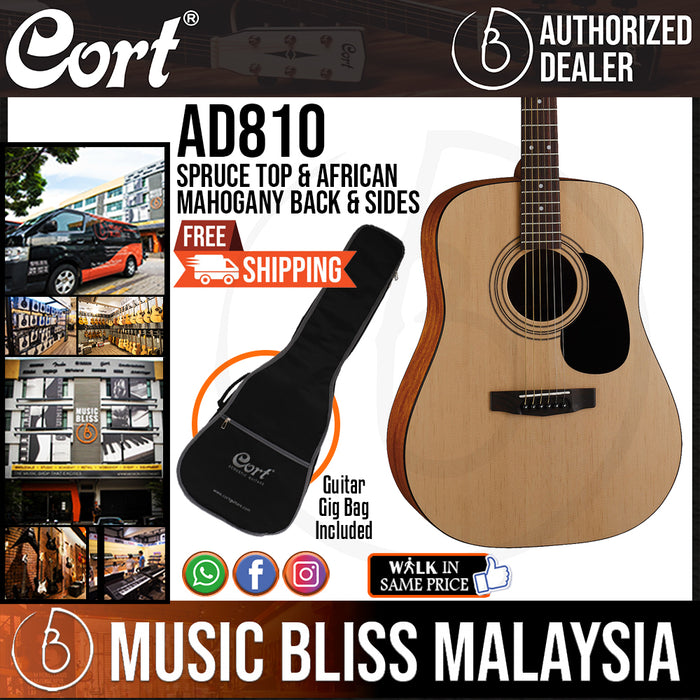 Cort AD810 Acoustic Guitar with Bag (AD 810 AD-810)