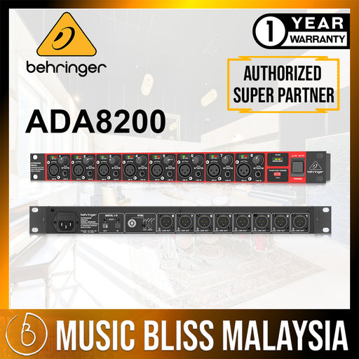 Behringer ADA8200 Microphone Preamp (ADA-8200 / ADA 8200) *Crazy Sales Promotion* - Music Bliss Malaysia