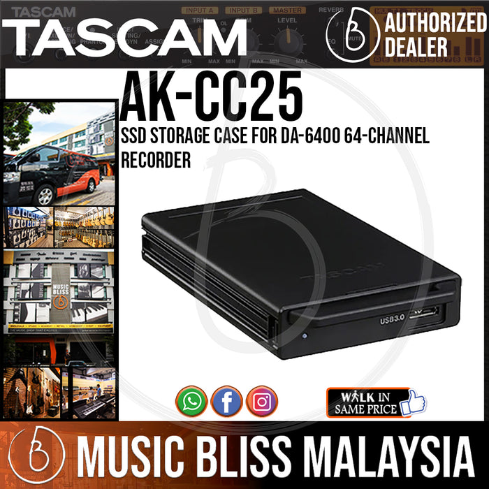 TASCAM AK-CC25 SSD Storage Case for DA-6400 64-Channel Recorder (AKCC25) - Music Bliss Malaysia
