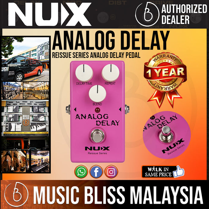 NUX Reissue Series Analog Delay Pedal - Music Bliss Malaysia