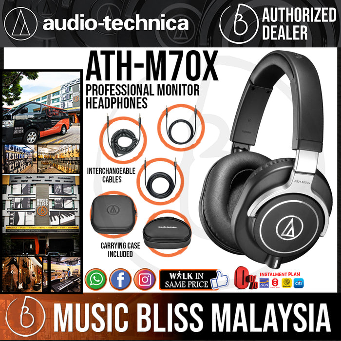 Audio Technica ATH-M70x Professional Monitor Headphone (M70x) *Crazy Sales Promotion* - Music Bliss Malaysia