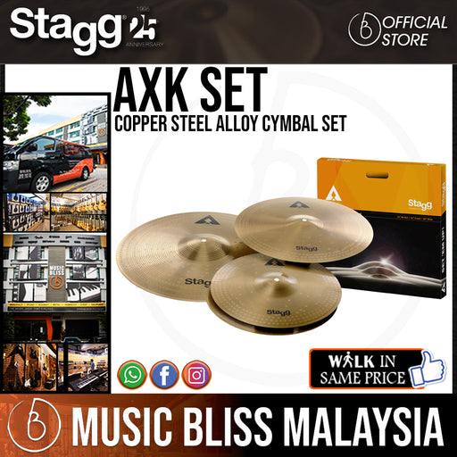 Stagg AXK-SET Copper Steel Alloy Cymbal Set
