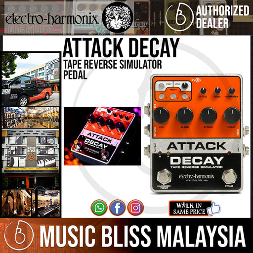 Electro-Harmonix Attack Decay Tape Reverse Simulator Pedal *Crazy Sales Promotion*