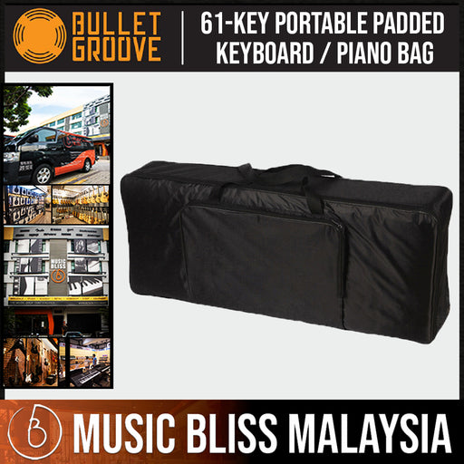 Bullet Groove Music Keyboard Bag 61 Keys, Padded Piano Bag For 61 Keys, Best Protective Piano/ Keyboard Bag