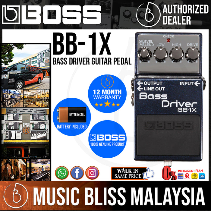 Boss BB-1X Bass Driver Guitar Pedal (BB1X) - Music Bliss Malaysia