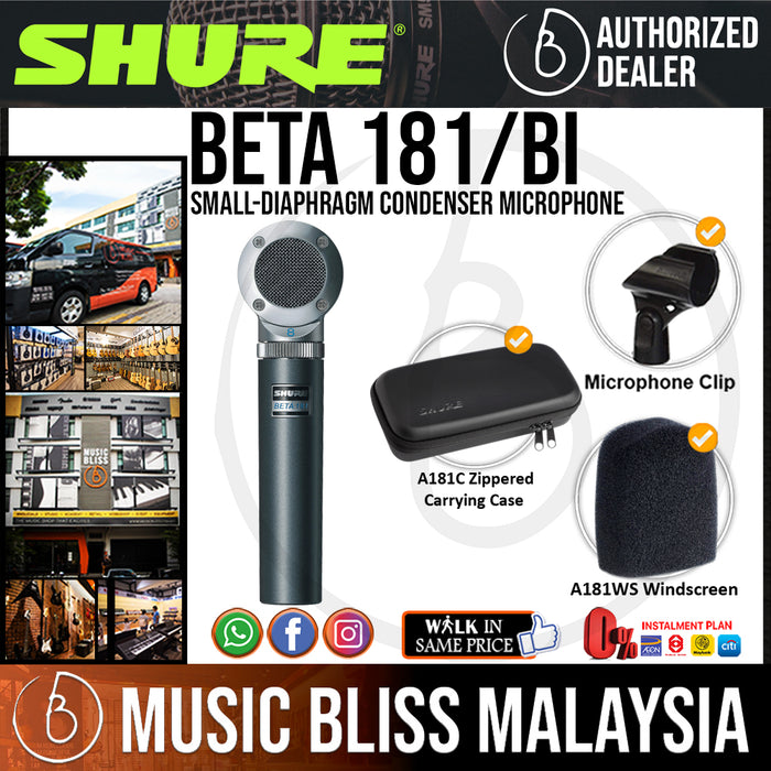 Shure Beta 181/BI Small-diaphragm Condenser Microphone (BETA181BI / BETA 181BI) - Music Bliss Malaysia