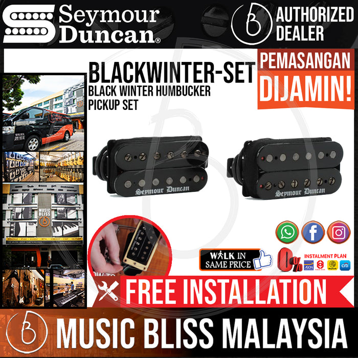 Seymour Duncan Black Winter Humbucker Pickup Set (Free In-Store Installation) - Music Bliss Malaysia