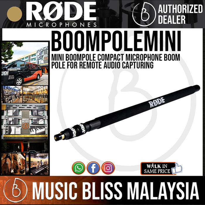 Rode Mini Boompole Compact Microphone Boom Pole for Remote Audio Capturing - Music Bliss Malaysia