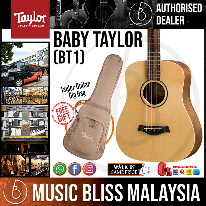 Taylor BT1 - Spruce Top with Bag (BT 1 / BT-1) *Crazy Sales Promotion* - Music Bliss Malaysia