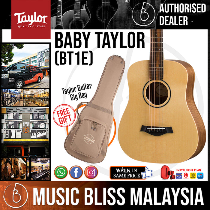 Taylor BT1e - Spruce Top with Bag (BT1-e) *Crazy Sales Promotion* - Music Bliss Malaysia