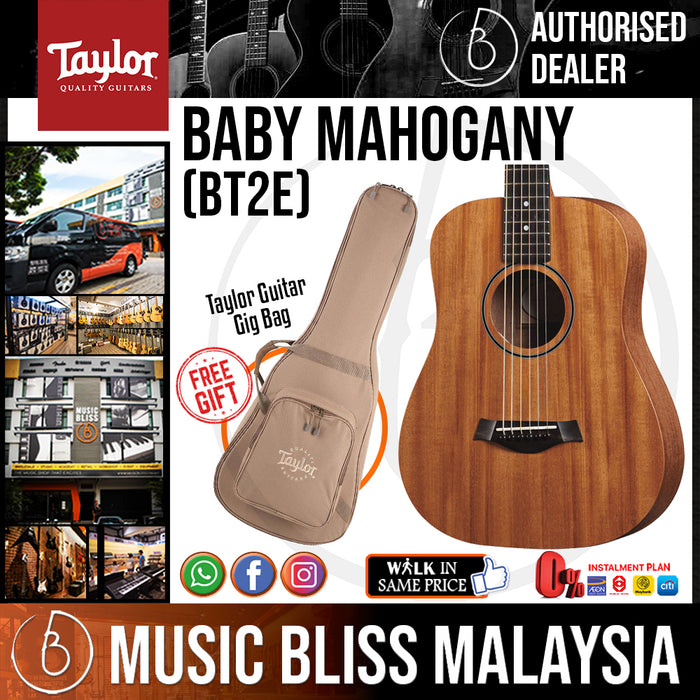 Taylor BT2e - Mahogany Top with Bag (BT2-e) *Crazy Sales Promotion* - Music Bliss Malaysia