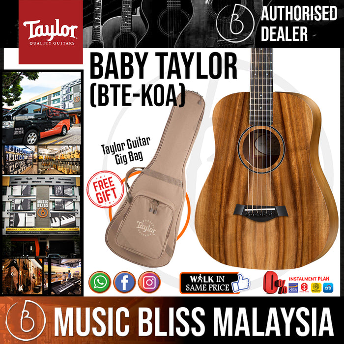 Taylor Baby Taylor - Koa Top with Bag (BTE-KOA / BTE KOA) *Crazy Sales Promotion* - Music Bliss Malaysia