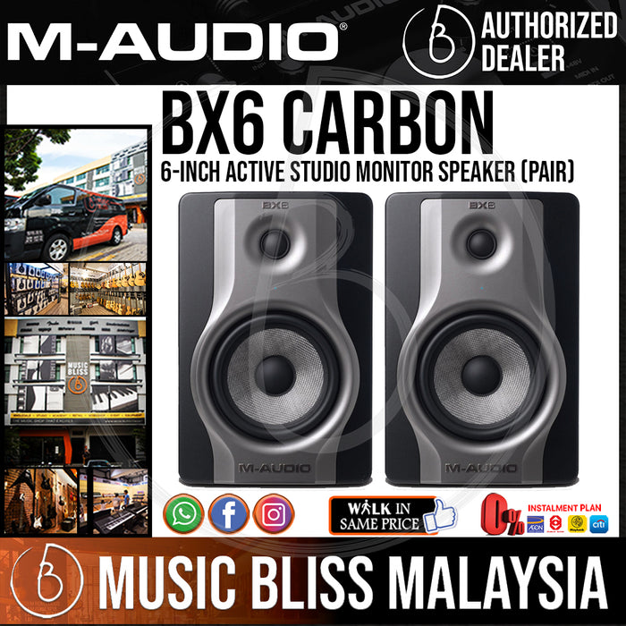 M-Audio BX6 Carbon Single Speaker Compact Studio Monitors (Pair) - Music Bliss Malaysia