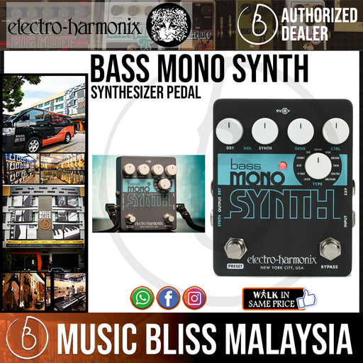 Electro Harmonix Bass Mono Synth Synthesizer Pedal (Electro-Harmonix / EHX) *Crazy Sales Promotion* - Music Bliss Malaysia