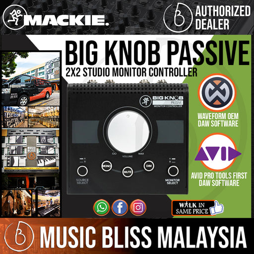 Mackie Big Knob Passive 2x2 Studio Monitor Controller - Music Bliss Malaysia