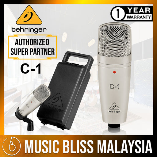 Behringer C-1 Large-diaphragm Condenser Microphone (C1) *Everyday Low Prices Promotion* - Music Bliss Malaysia