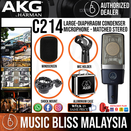 AKG C214 Large-diaphragm Condenser Microphone * Crazy Sales Promotion *