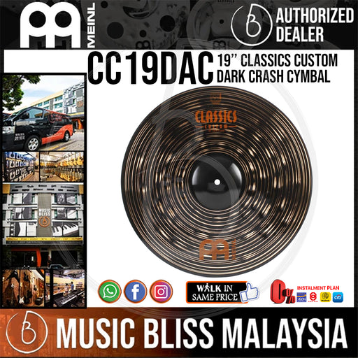 Meinl CC19DAC 19″ Classics Custom Dark Crash Cymbal