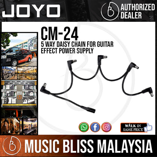 Joyo CM-24 5 Way Daisy Chain for Guitar Effect Power Supply (CM24) - Music Bliss Malaysia
