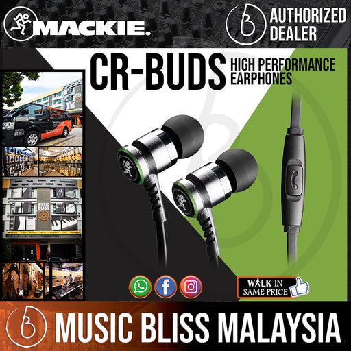 Mackie CR-Buds High Performance Earphones (CRBuds) - Music Bliss Malaysia