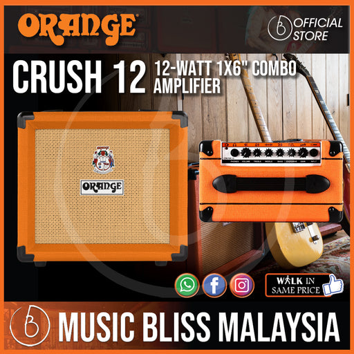 "Orange Crush 12 - 12-watt 1x6"" Combo Amp - Music Bliss Malaysia"