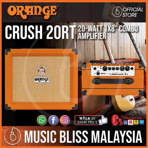 "Orange Crush 20RT - 20-watt 1x8"" Combo Amp - Music Bliss Malaysia"