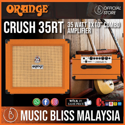 "Orange Crush 35RT - 35-watt 1x10"" Combo Amp - Music Bliss Malaysia"