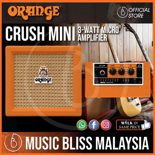 Orange Crush Mini 3-watt Micro Amp - Music Bliss Malaysia