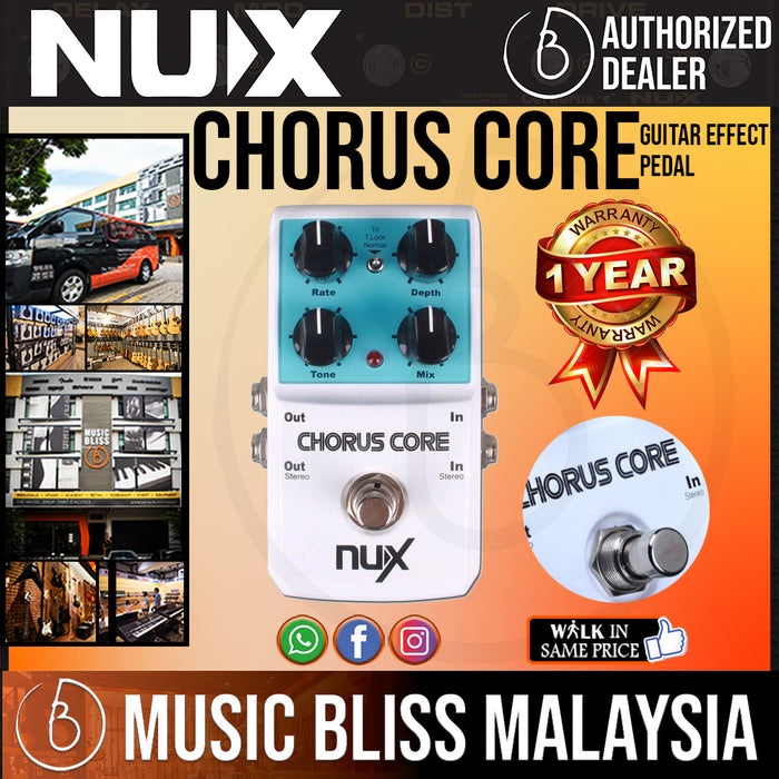 NUX Chorus Core Chorus Guitar Effect Pedal - Music Bliss Malaysia