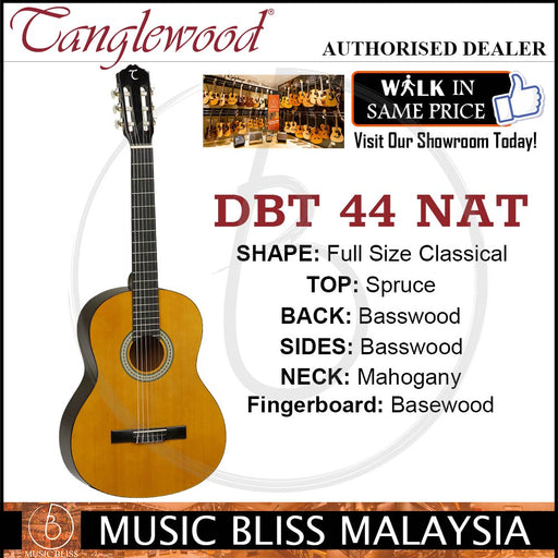 Tanglewood DBT 44 Discovery Classical Series Full Size Classical Guitar with Spruce Top ( DBT44)