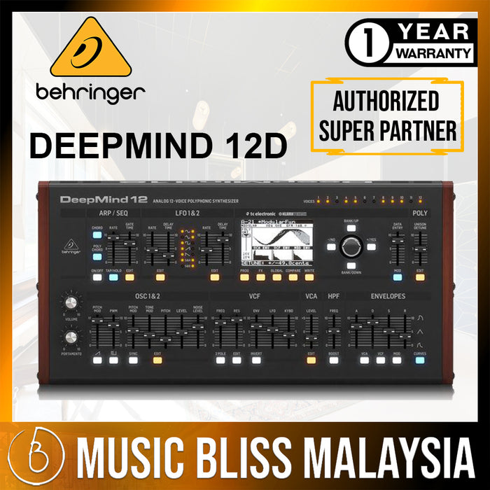 Behringer DeepMind 12D 12-voice Analog Desktop Synthesizer (DeepMind12D / DeepMind-12D) *Everyday Low Prices Promotion* - Music Bliss Malaysia