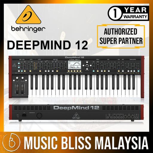 Behringer DeepMind 12 49-key 12-voice Analog Synthesizer (DeepMind12 / DeepMind-12) *Everyday Low Prices Promotion* - Music Bliss Malaysia