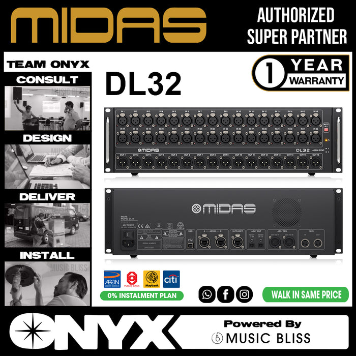 Midas DL-32 32-input/16-output Stage Box (DL32) * Everyday Low Prices Promotion *