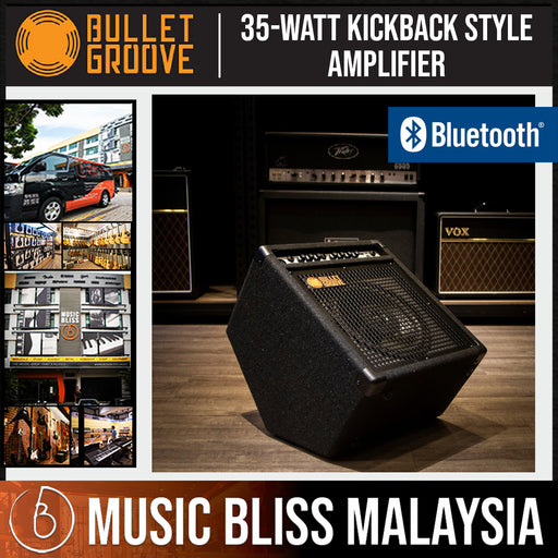 Bullet Groove DM35BT 35watts Personal Drum Monitor Electronic Drum Amplifier with 3-band EQ and Bluetooth Playback Function - Music Bliss Malaysia