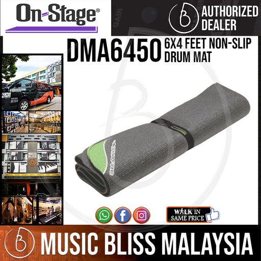 On-Stage DMA6450 6x4 Feet Non-Slip Drum Mat (OSS DMA6450) - Music Bliss Malaysia