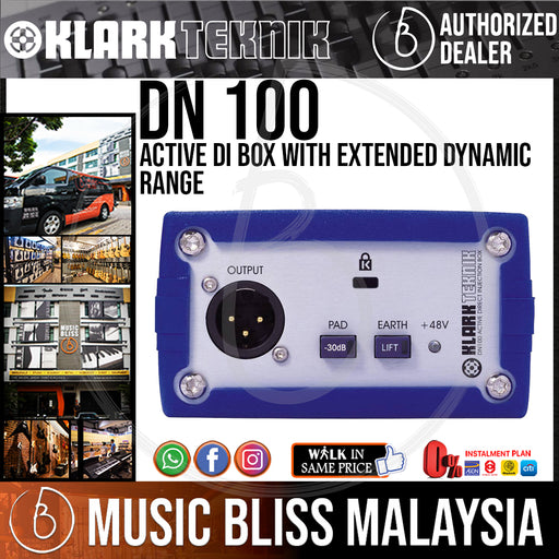 Klark Teknik DN-100 Active DI Box with Extended Dynamic Range (DN100) *Everyday Low Prices Promotion*