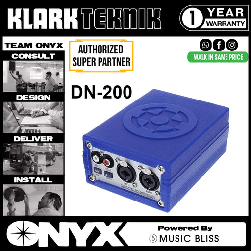 Klark Teknik DN-200 Active Stereo DI Box (DN200) *Everyday Low Prices Promotion*