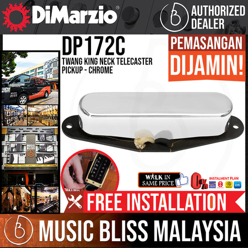 DiMarzio DP172C Twang King Neck Telecaster Pickup - Chrome (DP-172C) - Music Bliss Malaysia
