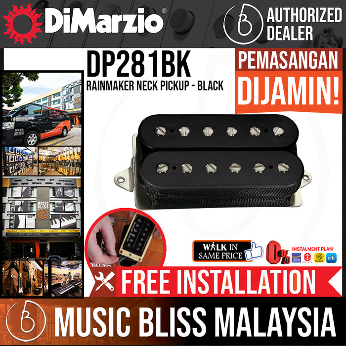 DiMarzio DP281BK Rainmaker Neck Pickup - Black (DP-281BK) - Music Bliss Malaysia