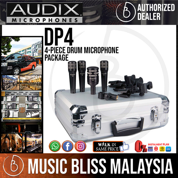 Audix DP4 4-Piece Drum Microphone Package (DP-4) - Music Bliss Malaysia
